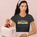 monochromatic-t-shirt-mockup-featuring-a-woman-with-some-toasts-32786
